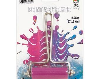 Ranger Ink Gel Plate Printing Brayer-SMALL W/PINK ROLLER-Ranger, Dyan Reaveley, and Dina Wakley