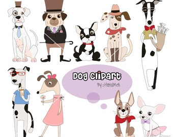 Dog Clipart, Puppy Clipart,animal clipart PNG file-300 dpi