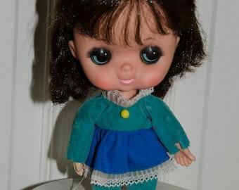 Vintage 1960's Forsum Big Eyes Girl Doll
