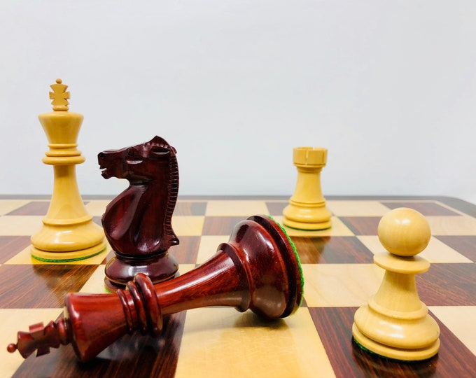 Featured listing image: Chess Fischer vs Spasky Staunton 6 Padauk