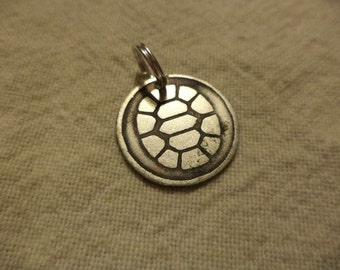 TMNT inspired 2 sided nickel silver charm