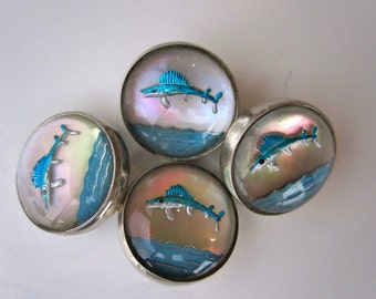 Antique Flying Fish Novelty Cufflinks, c. 1900