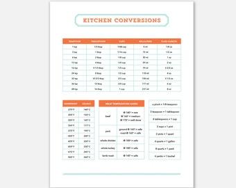 Kitchen Conversion, Kitchen Conversions List, Kitchen Conversion Chart, Printable Baking Conversion, Printable Cooking Measurements, Baking
