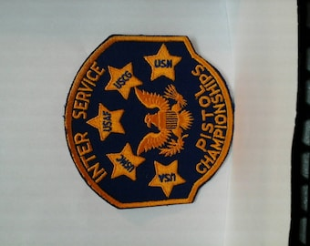Inter Service Pistol Championships insignia  patch Military Marine Corps, Air Force, Army, Coast Guard, Navy Eagle, Marksman , Sharpshooter