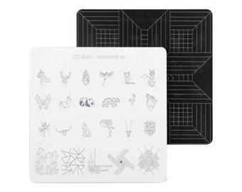 nail stamp plate geometry nail design 02