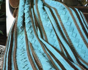 Afghan Crochet Pattern, Crochet Afghan Pattern, Housewarming Gift,  PDF INSTANT Download Pattern (1010)