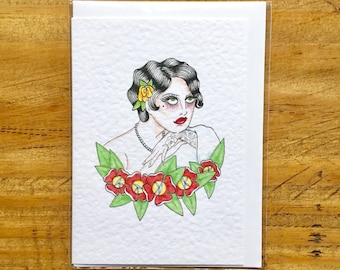 20's Girl Vintage Style Greeting Card