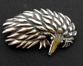 Echidna Brooch sterling silver