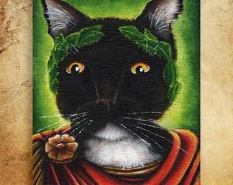 Julius Caesar Cat Shakespeare Literary Cats 8x10 Fine Art Print