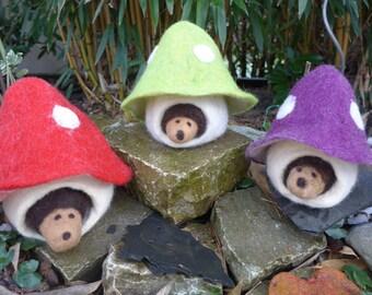 Small Mushroom Cottage with hedgehog