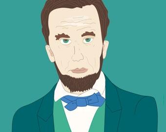 Abraham Lincoln Illustration Print