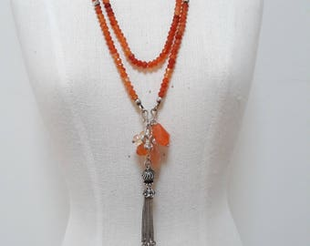 Sterling silver and Carnelian necklace.