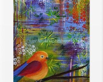 Bird print wall art home decor - Bird lover gift - Nature lover gift - Gift for her - Colorful bird print - Gift ideas - Nursery wall art