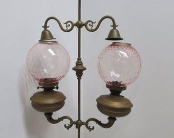 Antique Double Burner Oil Lamp Chandelier England