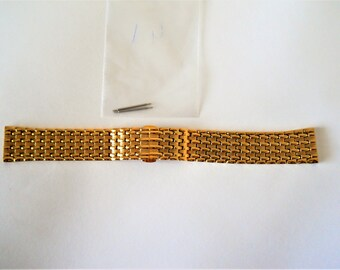 22mm Gold plated watch bracelet