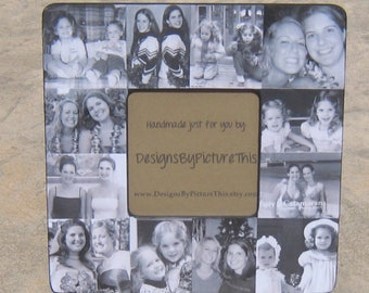 """Maid of Honor Collage Picture Frame, Custom Bridesmaid, Personalized Sister Gift, Best Friend Gift, Birthday Gift Frame, Parent Gift 8"""" x 8"""""""