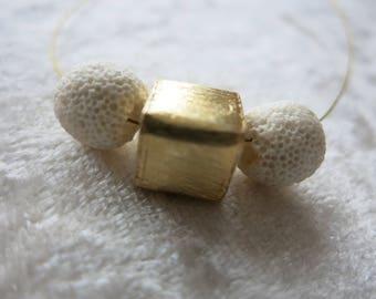 Chain Minimalist Lavaperle Gold cubes