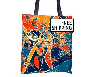 York Map Tote Bag - Yorkshire Map Tote Bag 15x15