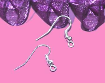Earring hooks 18x08mm silver