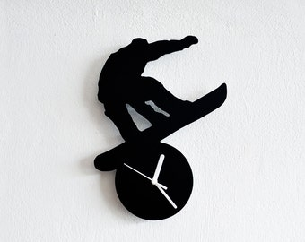 Snowboarding Silhouette - Wall Clock