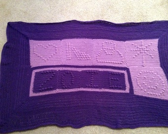 Personalized Icon Afghan
