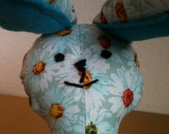 Floppyfeet Bunny Doll, flowers/stitched face