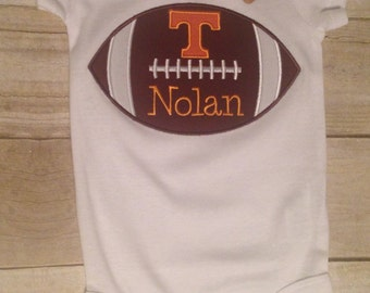 Tennessee Football Power T Baby Bodysuit Romper Personalized, Tennessee Vol Baby