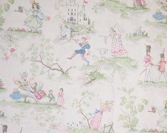 Over the Moon White Children Baby Nursery, Fabric Printed Decorative Home Decor