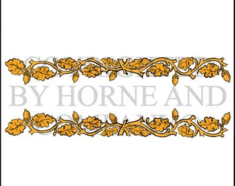 Vector, Decorative Element, Autumn, Fall Leaves and Acorns