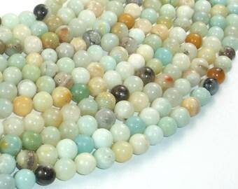 Amazonite Beads, 6mm (6.6mm) Round Beads, 15.5 Inch, Full strand, Approx 60 beads, Full strand, Hole 1 mm (111054015)