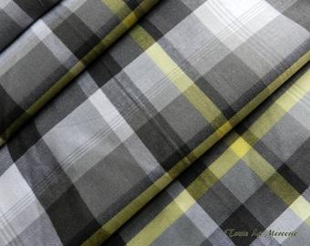 Fancy yellow/grey gingham fabric
