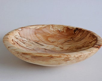 Wooden bowl, spalted beech bowl, handmade,woodturning,