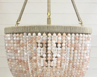 Blush Beaded Chandelier- Ready to Ship!