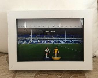 Tottenham Hotspur 6x4 Framed Subbuteo Players From Season 1991/93