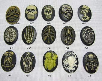 Silicone molds in the form of cameos (30 * 40mm). Molds for polymer clay