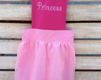 Pink Apron, Princess Apron, Girls Apron