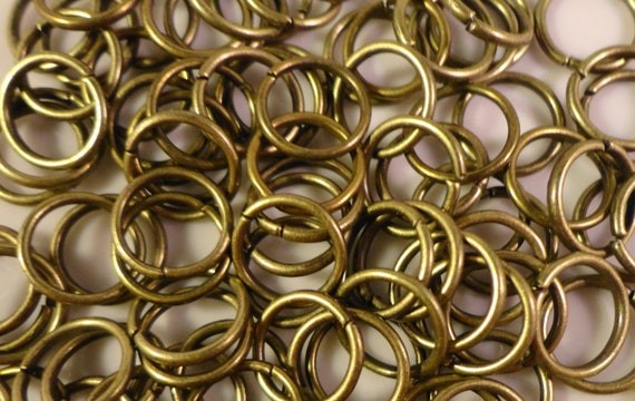 Brass Jump Rings 8mm Antique Brass Tone Metal (Bronze) 25 Gauge Iron Open Jump Rings Jumprings Jewelry Findings Craft Supplies 100pcs