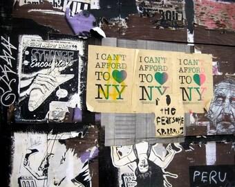 Brooklyn Graffiti Wall, 8x10 Matted Photograph