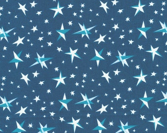 Cloud9 Organic Goodnight Moon Starry Sky Cotton Fabric
