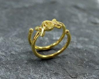 Silver DNA Ring, Gold DNA ring, Geekery Gift, Nerd Jewelry Gift