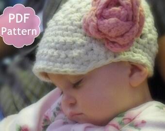 Chic Chunky Brimmed Newsgirl Cap Crochet Pattern