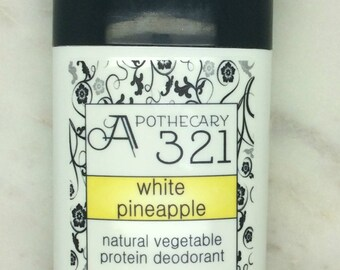 White Pineapple Natural Deodorant, Aluminum Free, Paraben Free Vegan Deodorant Juicy Pineapple Scented