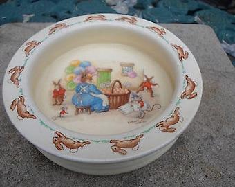 Vintage Royal Doulton Bunnykins - Barbara Vernon - Feeding Bowl