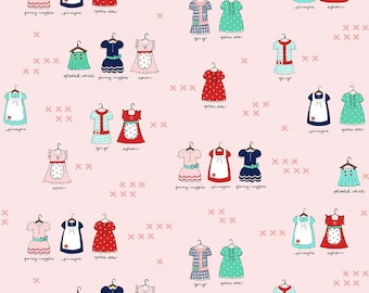 Main Sweetness in Pink from the A Little Sweetness Collection by Tasha Noel for Riley Blake, Choose the Cut, Tiny Dresses,