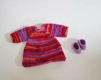 """Doll dress / 34 cm / 36 cm / 38 cm / 13"""" / 14"""" / 15"""" / knitted / waldorf doll clothes / Steiner doll clothes / dress / knit dress / knitted"""