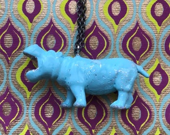 Plastic Hippo Necklace
