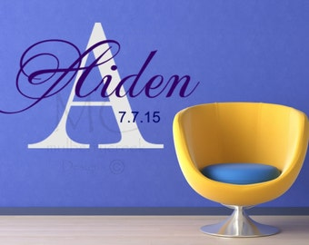 Personalized Vinyl Decal, Custom Vinyl Name Decals, Wall Decals, Vinyl Names