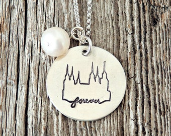 Washington DC Temple, Temple Forever Necklace, Temple Necklace, Temple, LDS Jewelry, Mormon Charm, Temple Charms, LDS Wedding