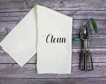 Kitchen Dish Towel - Tea Towel - Clean