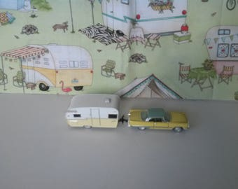 1957 DeSoto Fireflite with Shasta Airflyte Travel Trailer Diorama Supply Collectible Item Replica